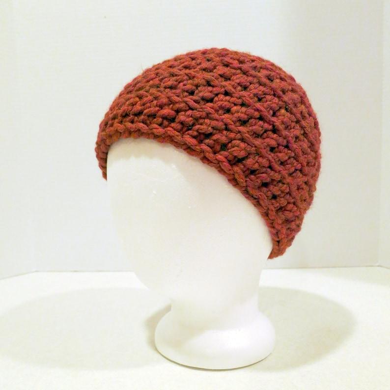 Crochet Hat Pattern Unisex Chunky Back Loop Beanie