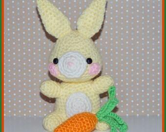Crochet Pattern: Amigurumi Bunny, Sebastian AND Bonus Pattern
