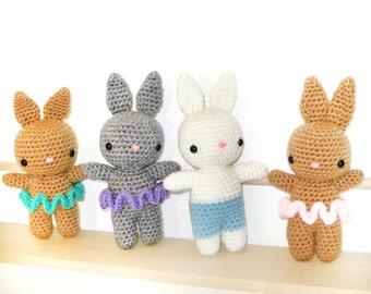 Crochet Pattern: Amigurumi Rabbit, Honey Bunnies