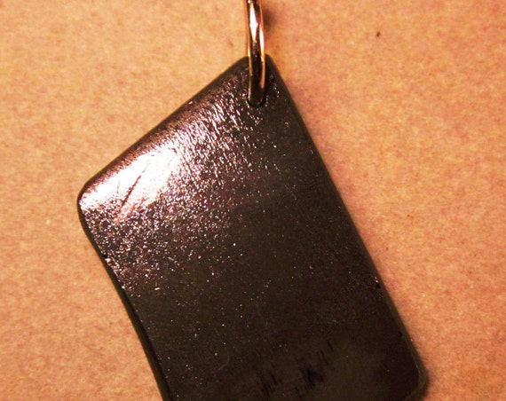 "Shungite Pendant, ""Like a Diamond"", black, nickel bail 28ct"