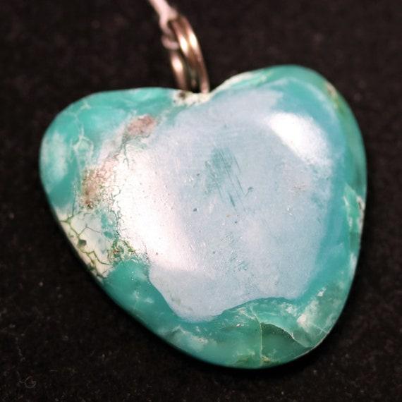 Heart, Turquoise pendant, twirl bail, 53ct