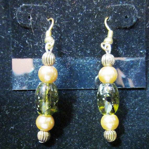 Earrings Jen 25 various beads, sterling silver,