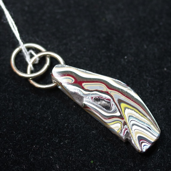 """Fordite pendant, brown gold white, """"today cinco de mayo"""", nickel jumps bail 11ct"""