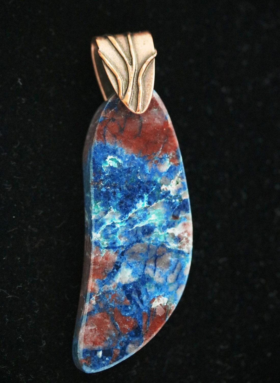 Shattuckite Azurite Pendant