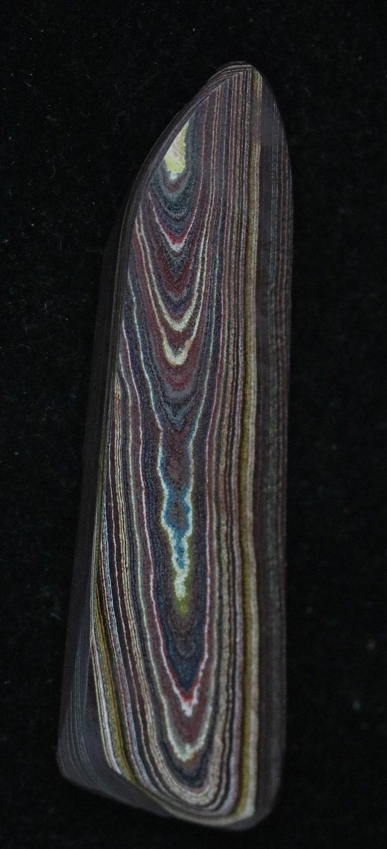 Corvettite cabochon 30.5ct; ETSY RANK #3 Corvettite Cabochon black brown yellow gray green blue redmarooncarmine