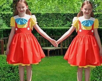Tweedle Dee and Tweedle Dum Costume, Girls