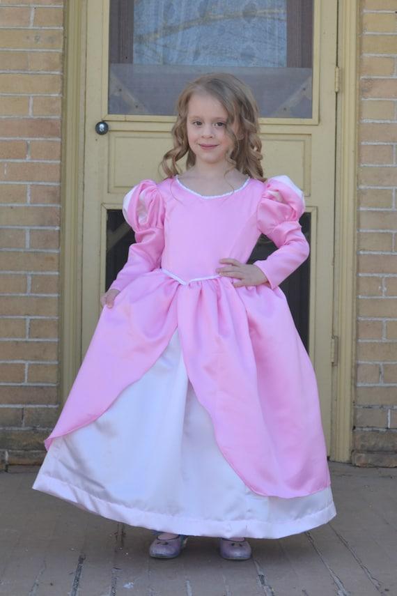 Ariel Little Mermaid Pink Ball Gown Costume Dress   Etsy