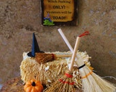 "Miniature Halloween Scene - ""Witch Parking"""