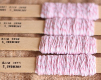 Bakers twine bianco e rosa 9m / 9m of Pink and White Bakers Twine
