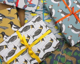 Wrapping paper set of six designs -Birthday Wrapping Paper -Recyclable Wrapping Paper