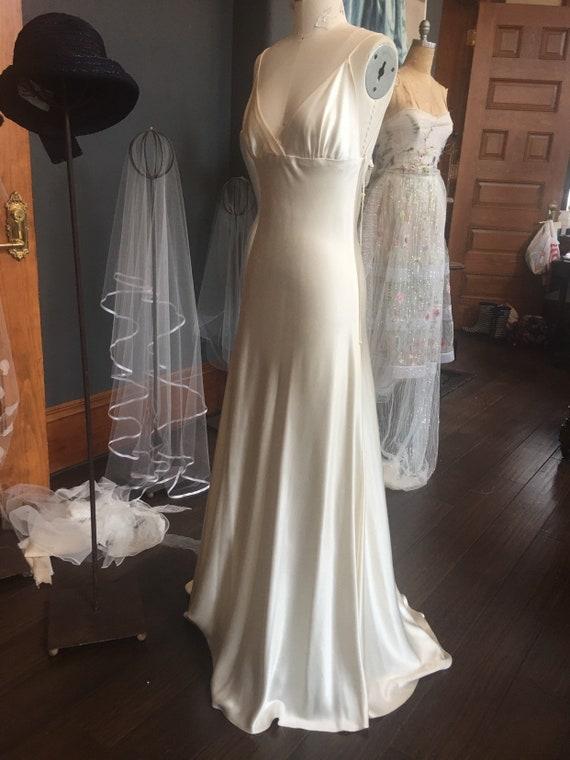 Slip Dress Silk Gown Bridal Gown Custom Wedding Dress Silk Etsy