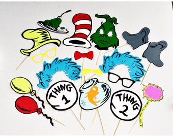 Cat In The Hat Props Etsy
