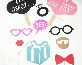 Engagement party photo booth props ***13 pc**