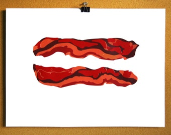 Mmmm . . . Bacon - screenprint