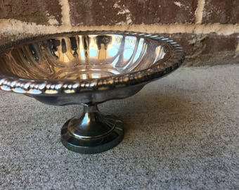 Silverplate Pedestal Dish / Footed Bowl