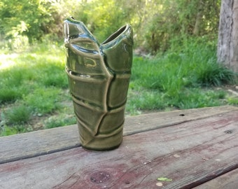 Green Leaf Vase