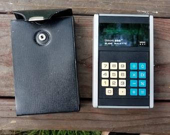 Unisonic 888 Slide Rulette - Vintage Calculator / Adding Machine