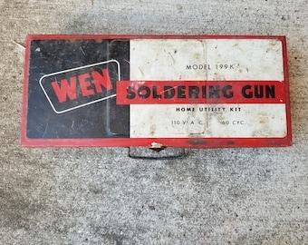 WEN Soldering Gun / Old Advertising Tin / Metal Case / Vintage Hand Tools