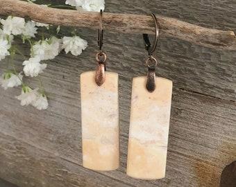 Imperial Jasper earrings | desert sands natural stone jewelry