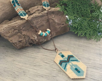 Water Protector Beadwork necklace | water is life talisman