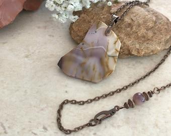 Raw Mookaite Jasper necklace | natural earth stone jewelry talisman