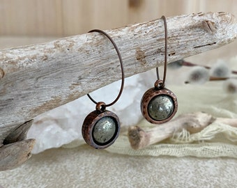 Healers Gold in Copper earrings | natural earth stone jewelry