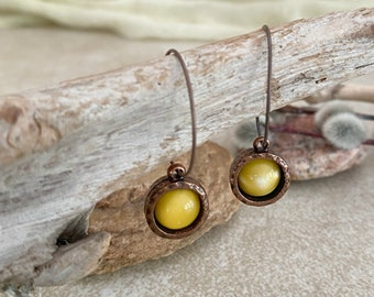 Butterscotch Amber Earrings | natural earth stone jewelry