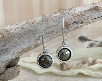 Healers Gold in Silver earrings | natural earth stone jewelry