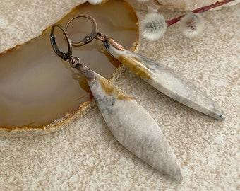 Hidden Valley Jasper earrings | natural earth stone jewelry