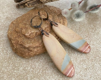Succor Creek natural jasper earrings | earth stone jewelry