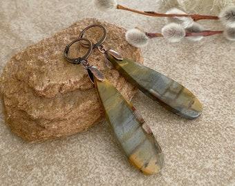 Earthy Jasper Earrings | natural desert earth stone jewelry