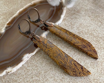 Sanskrit Jasper Earrings | natural ancient stone jewelry
