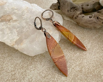 Natural Succor Creek jasper earrings | earthy stone jewelry