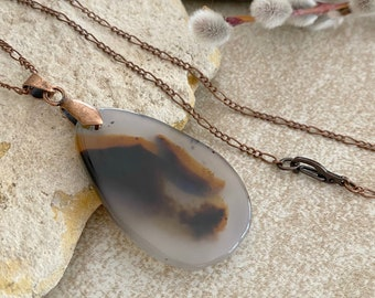 Montana Agate Necklace | natural earth stone jewelry