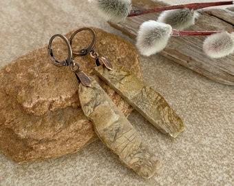 Oregon Biggs Jasper earrings | natural earth stone jewelry