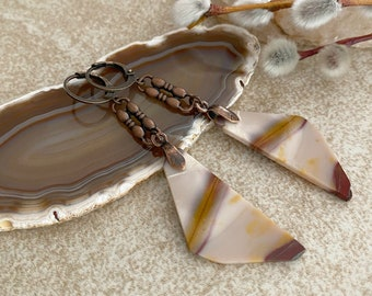 Jasper Stone earrings | natural Indian blanket desert jewelry
