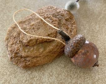 Acorn Ornament | aqua terra jasper stone | oak tree lovers gift
