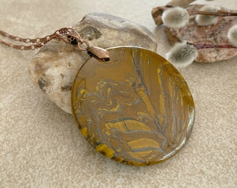 Flower of the Earth ~ tiger's eye necklace | natural earth stone jewelry