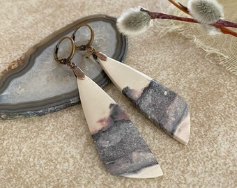 Tiffany Stone Earrings in your choice of ear wires | natural earth stone jewelry