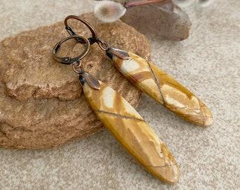 Desert Jasper Earrings | natural earth stone jewelry