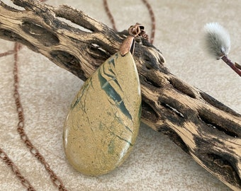 Green Canyon Jasper necklace | natural stone jewelry talisman