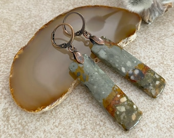 Owyhee Jasper Earrings | natural earth stone jewelry