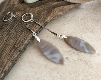 Agate Dangle Earrings | natural earth stone jewelry