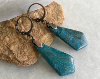 Ghost Eye Jasper earrings | natural earth stone jewelry