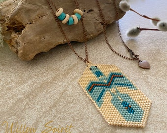 Water Bird Beadwork necklace | water is life talisman
