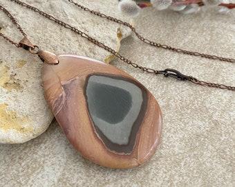 Succor Creek Jasper necklace | natural stone jewelry talisman