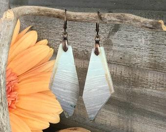 Wave Jasper Earrings | natural desert earth stone jewelry