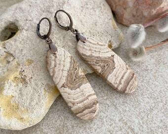 Picture Jasper Earrings | natural scenic desert earth stone jewelry