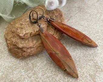 Willow Creek Jasper earrings | natural earth stone jewelry