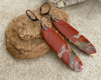 Red River Jasper earrings | natural earth stone jewelry